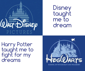 disney, dreams, and harry potter image