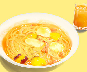 animation, noodles, and anime image