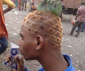 pineapple, funny, and hair image
