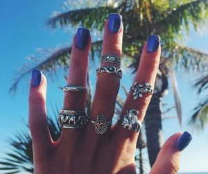 nails, summer, and blue image