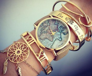 bracelets, gold, and live your life image
