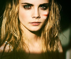 celebrity, face, and cara delevingne image