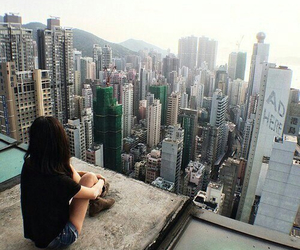 city, girl, and grunge image