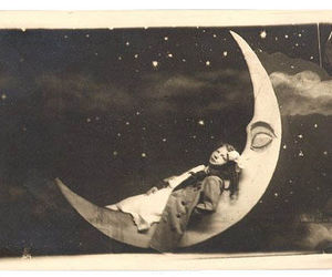 moon, vintage, and stars image