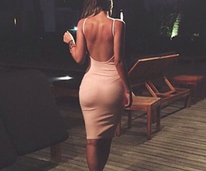 backless, beautiful, and brown image
