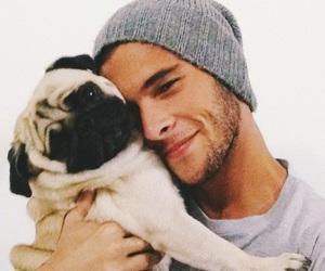 boy, dog, and pug image