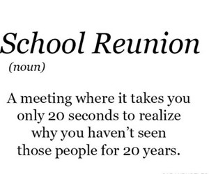definition and school reunion image
