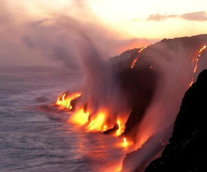 lava, fire, and hawaii image