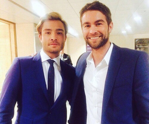 chuck bass, nate archibald, and ed westwick image