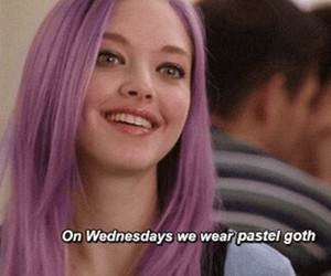 grunge, goth, and mean girls image