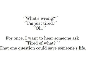 tired, sad, and life image