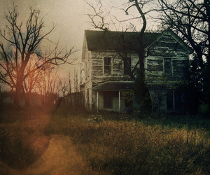 house, vintage, and tree image