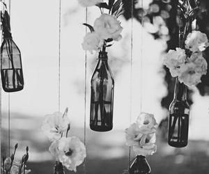 flowers, bottle, and vintage image
