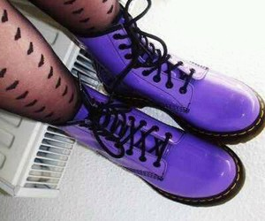 purple, boots, and shoes image