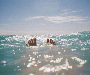 summer, sea, and feet image