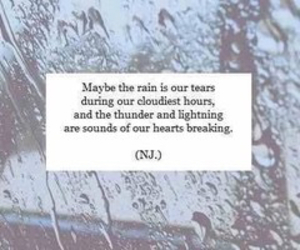 quote, rain, and tears image