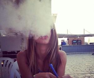 shisha, girl, and smoke image