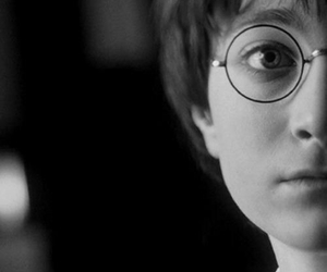 harry potter, black and white, and daniel radcliffe image