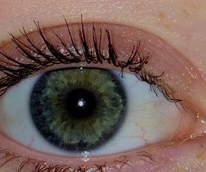 eye and green image