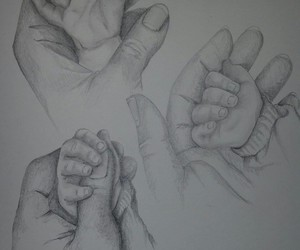 art, hands, and baby image