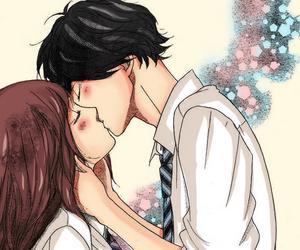 ao haru ride, kiss, and anime image
