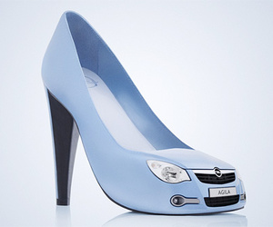 blue, hoes, and pumps image