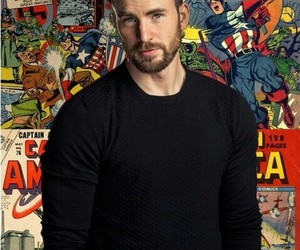 chris evans, captain america, and Marvel image