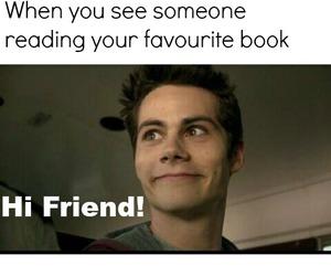 book, reader, and hi friend image