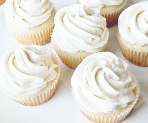 cupcake, food, and white image