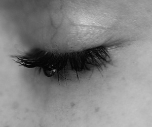 b&w, eye, and black and white image