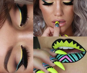 beauty, eye shadow, and lips image