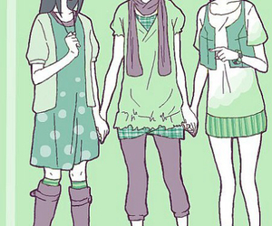 girls, hinata, and ino image