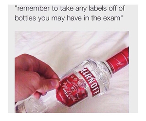 exam, vodka, and drink image
