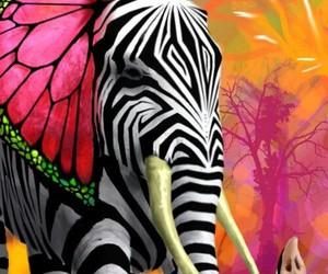 elephant, animal, and art image