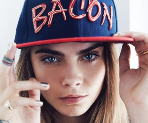 cara delevingne, model, and bacon image