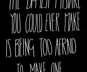 mistakes, quotes, and afraid image