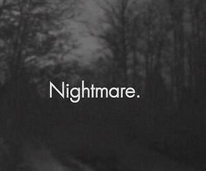 nightmare, dark, and black and white image