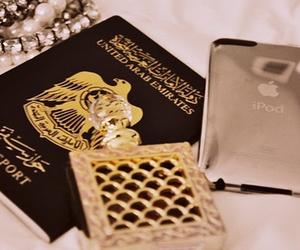 Dubai, passport, and UAE image