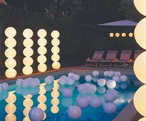 pool, party, and light image