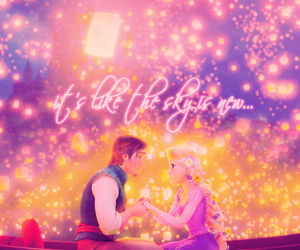 rapunzel, disney, and lights image