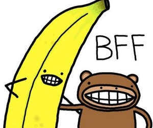 bff, banana, and monkey image