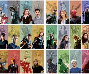comic, Marvel, and black widow image