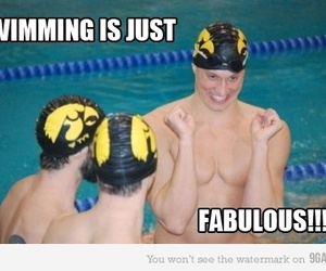 derp, lol, and funny swimming image
