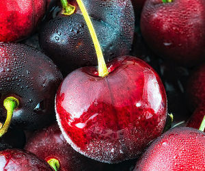 cherries, fruit, and snack image