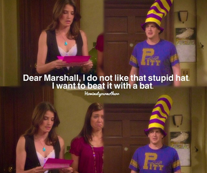funny, hat, and himym image