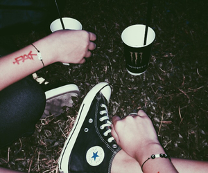 all star, black, and drinks image