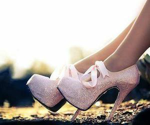 high heels, shoes, and legs image