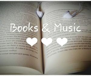 books, love music, and music image