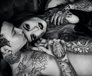couple, tatoo, and grunge image