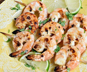 food porn, grilled, and seafood image